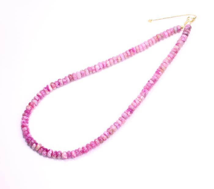 ピンクスギライトネックレス